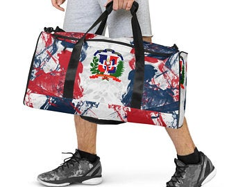 Now available are the Volleybragswag Dominican flag inspired sports bras, volleyball shorts set, beach towels and blankets, flip flops, hoodies, fanny packs, duffle bags and more!