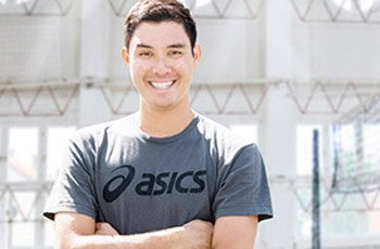 USA Volleyball Olympian and Asics volleyball sponsored athlete Erik Shoji