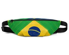 Cool fanny packs for men and women inspired by the flag of Brazil Available on ETSY in my Volleybragswag shop. Get yours today!