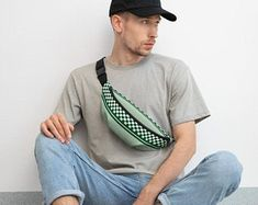 Cute fanny packs that are cool are in! Guys wearing fanny packs are in! Back to school outfits with fanny pack accessories are a thing this season. Check out these popular designs on Etsy!