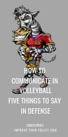 How To Communicate in Volleyball Five Things To Say in Defense by April Chapple