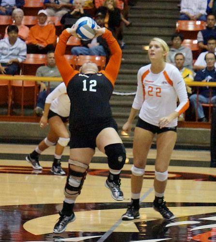 Volleyball rules for communication: UOP libero back setting.