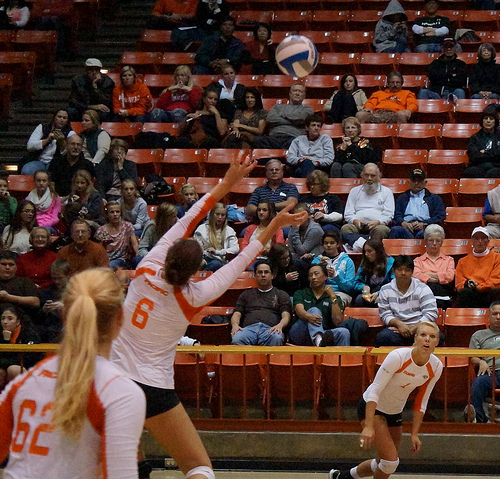 Learning how to play volleyball: Setting a volleyball to the outside hitter