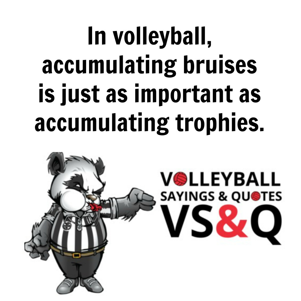 VSQ - Volleyball Quotes and Sayings In volleyball accumulating trophies