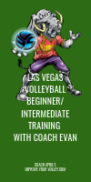 Las Vegas Volleyball Beginner/Intermediate Training with Coach Evan