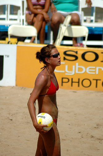 Every year since 2003, American volleyball player Logan Tom has played on a different pro volleyball club team around the world. (Xymox)
