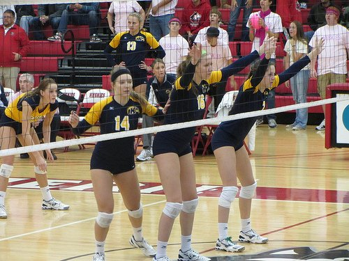 MAC Volleyball - Kent State front row by D. Wilson
