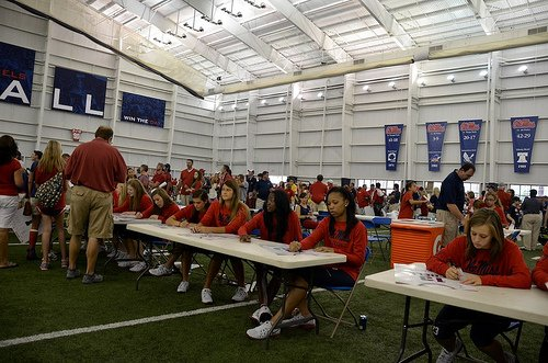 Ole Miss Rebel autograph signing session.