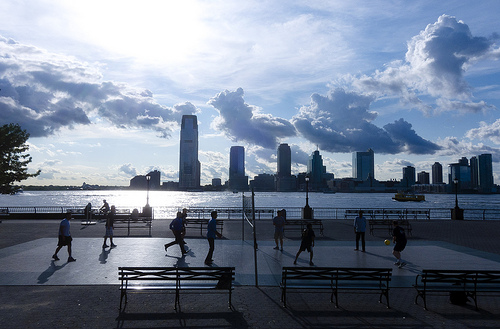 Volleyball Images: Outdoor Volleyball Court in Battery Park, New York City by Dan Nguyen