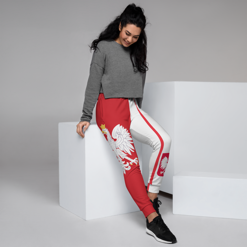 Jogger Pants For Girls Inspired by the flag of Poland
