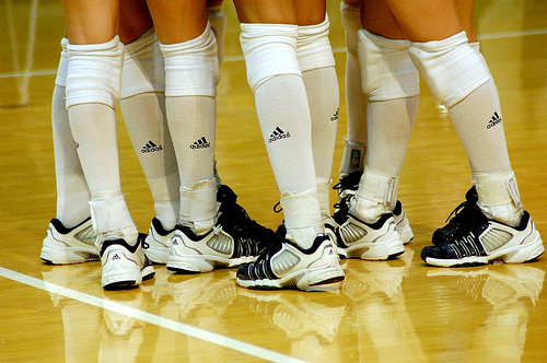 The Adidas volleyball uniform is the official apparel brand for USA Volleyball National teams and several high profile collegiate teams.
