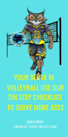 Your Serve In Volleyball Use Our Ten Step Checklist To Serve More Aces