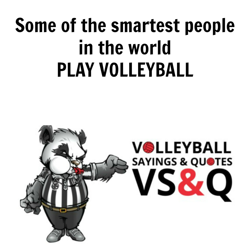 VSQ - Volleyball Quotes and Sayings Some of the Smartest People