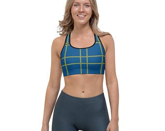This gorgeous sports bra is made from moisture-wicking material that stays dry during low and medium intensity workouts.