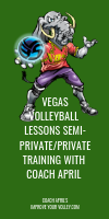 Vegas Volleyball Lessons Semi-Private/Private Training with Coach April