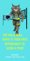 The Volleyball Serve is Your First Opportunity To Score A Point by April Chapple