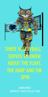 Three Volleyball Serves To Know About The Float, The Jump and The Spin by April Chapple