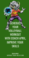 Schedule Your Volleyball Workout with Coach April, Improve Your Skills