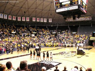 Wichita State volleyball team in Koch Arena